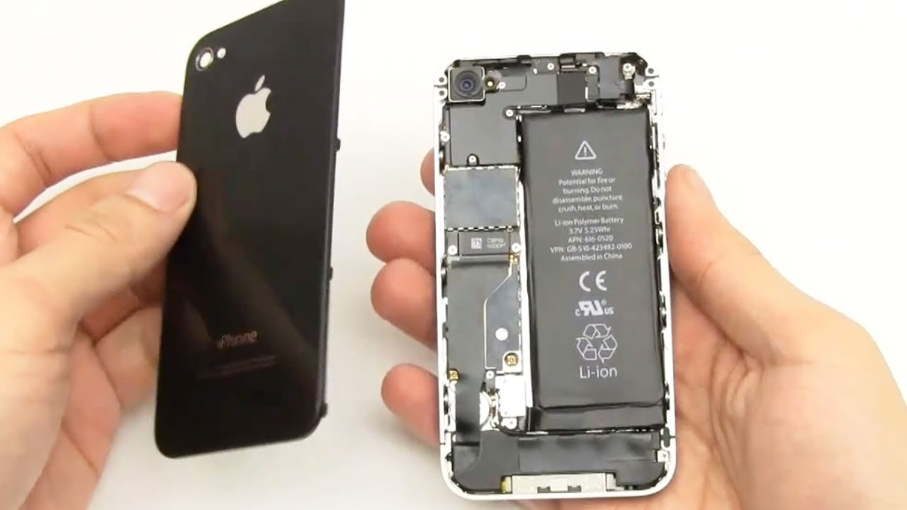 how to open an iphone 4 how to verizon iphone 4 back glass panel housing 4383