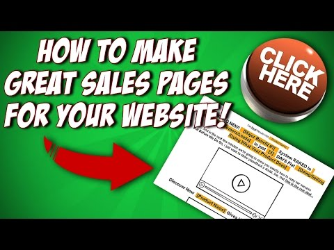 How To Make Great Sales Pages For Your Website