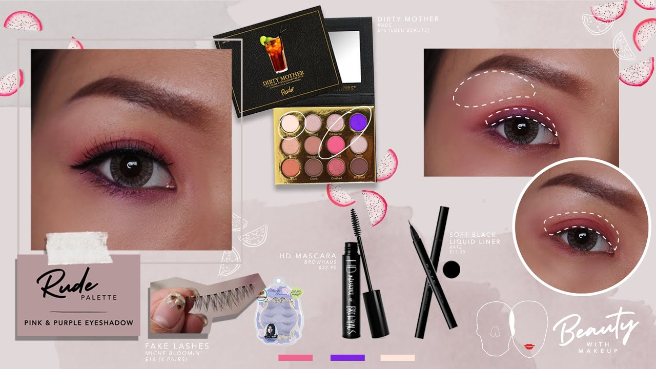 Rude Dirty Mother Palette | Pink & Purple Eyeshadow Tutorial