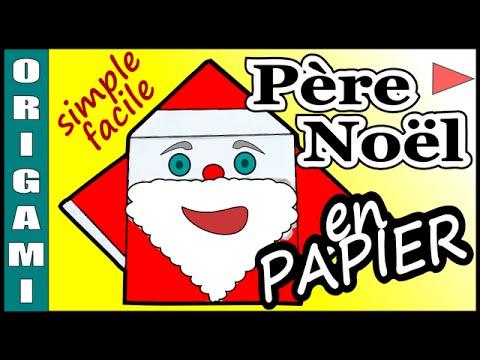 Comment faire un pere noel en papier origami youtube - Comment faire un sapin de noel en papier ...
