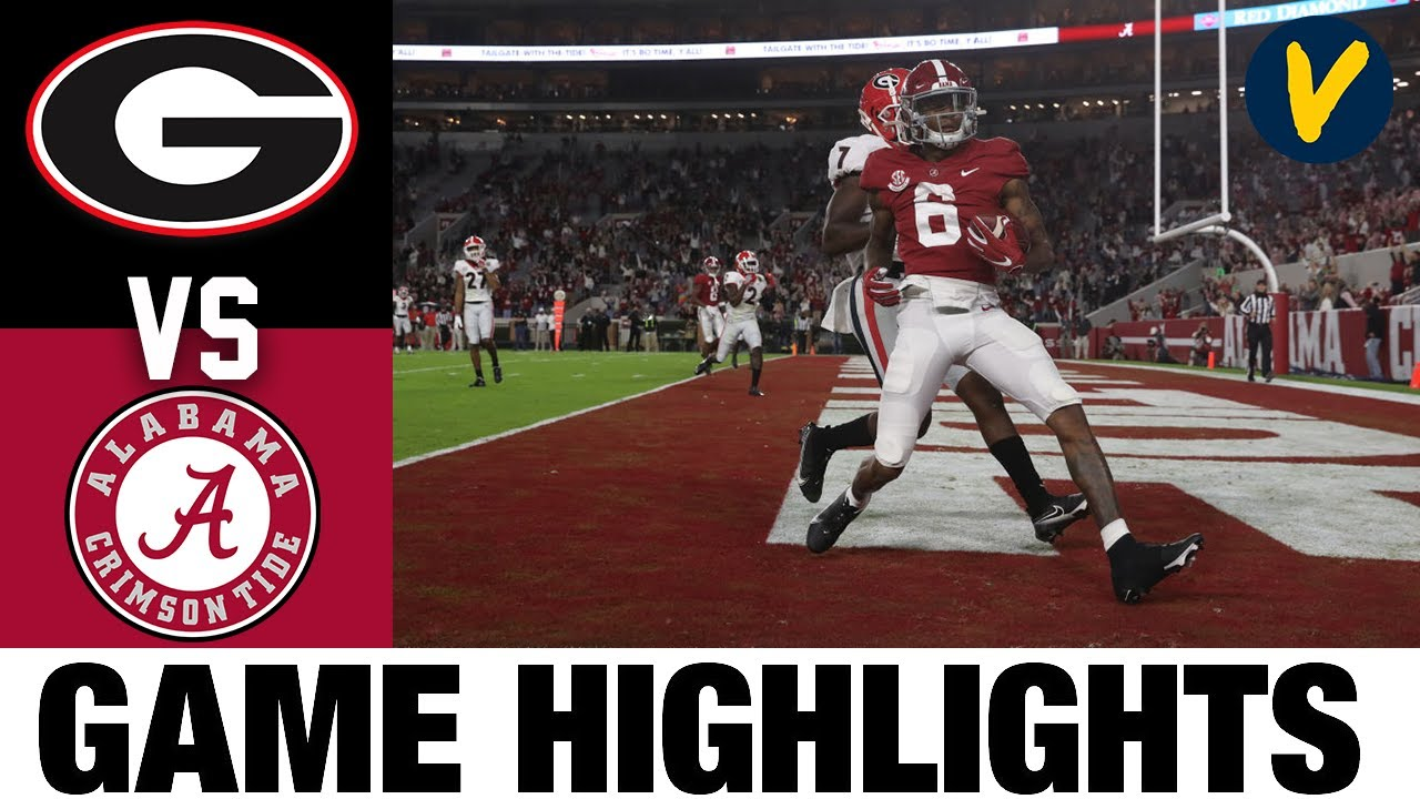 3 Georgia Vs 2 Alabama Highlights Week 7 2020 College Football Highlights Youtube