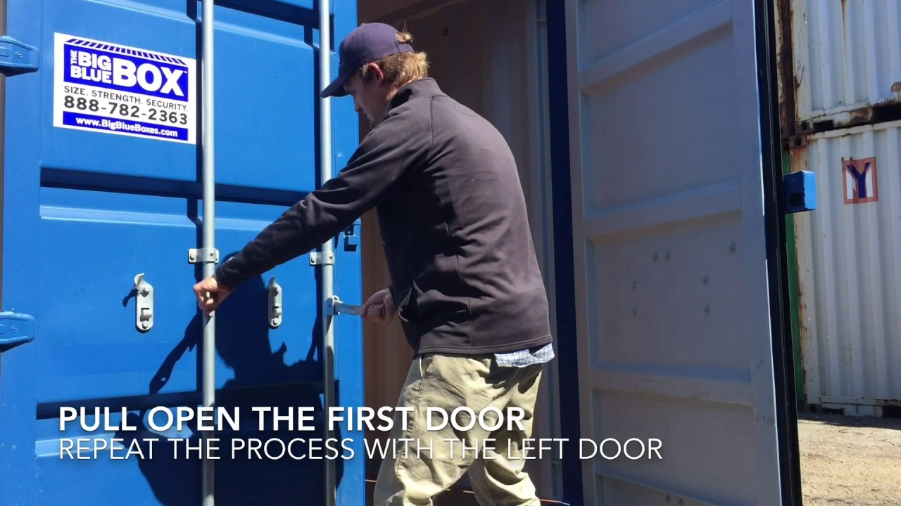 How to Open a Big Blue Box Storage Container & How to Open a Big Blue Box Storage Container - YouTube