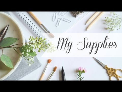 My Hand Lettering Supplies (And Storage!)