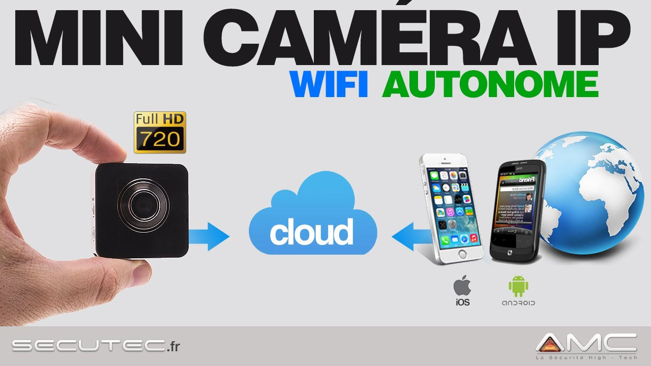 mini camera ip hd wifi autonome avec acc s sur smartphone ios android secutec fr youtube. Black Bedroom Furniture Sets. Home Design Ideas