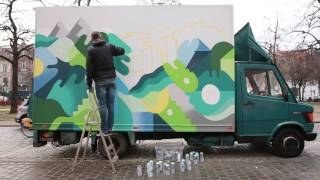 Gambar cover Oli-B - Painting on truck - Brussels 2016