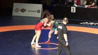 2019 Canadian Trial WW53kg Samantha Stewart (Black Bears) vs Diana Weicker (Brock)