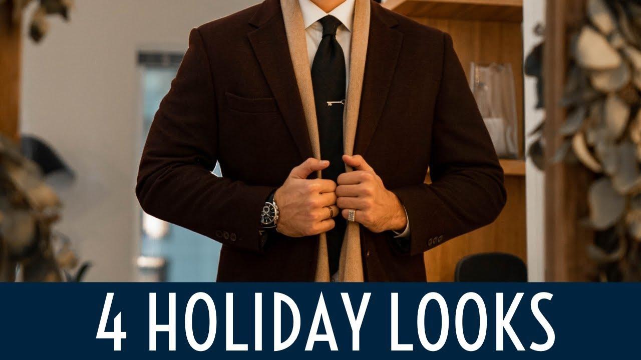 4 Holiday Looks || Men's Fashion Lookbook 2019 || Gent's Lounge