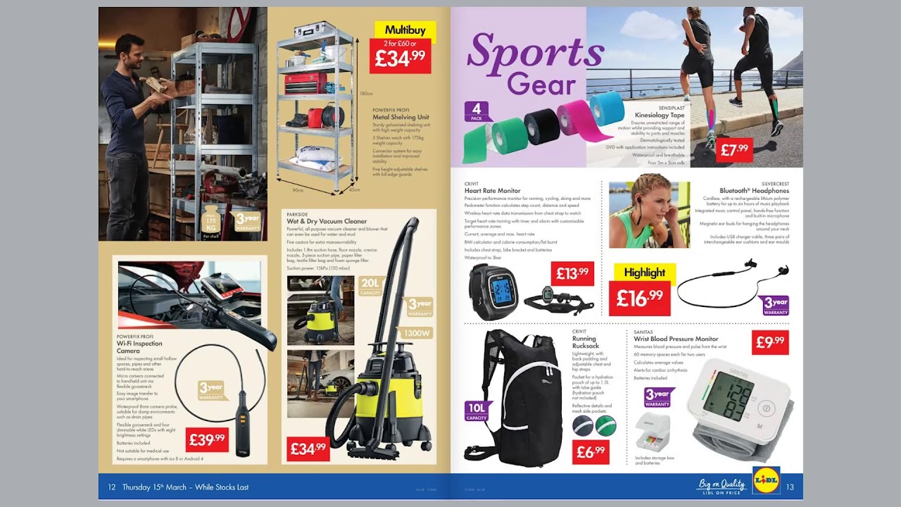 lidl weekly deals easter sports diy offers 15th to 23rd march 2018 youtube. Black Bedroom Furniture Sets. Home Design Ideas