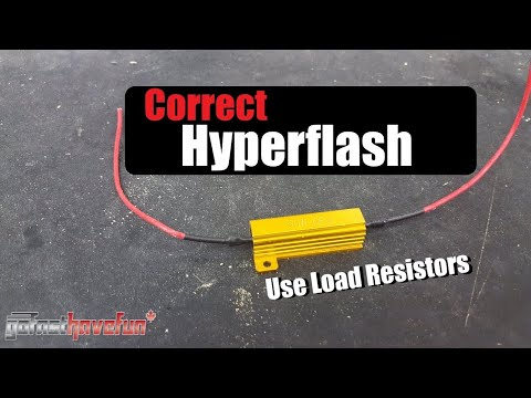 Load Resistor Install (Eliminating Signal Hyper Flash) | AnthonyJ350