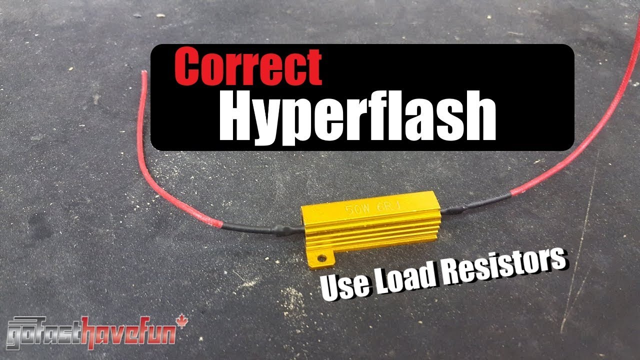4 Wire Trailer Light Wiring Diagram Load Resistor Install Eliminating Signal Hyper Flash