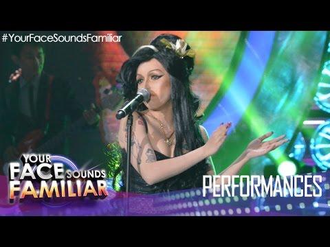 "Your Face Sounds Familiar: KZ Tandingan As Amy Winehouse - ""Rehab"""