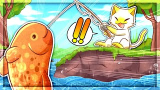 Catching HUGE Cow Fish in Cat Goes Fishing (Realistic Mode)