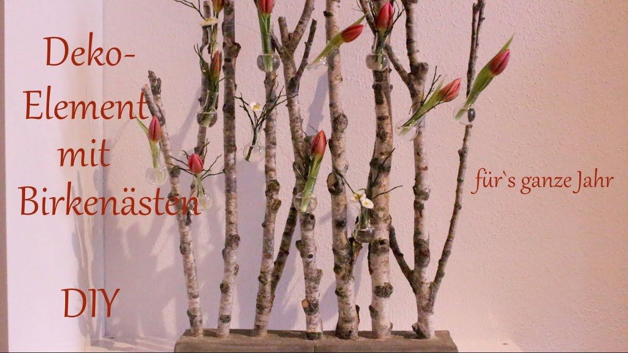 DIY  DekoElement mit Birkensten  Raumteiler im Miniformat  Deko frs ganze Jahr  Just