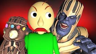 BALDI vs THANOS 2: FIGHT! (Avengers: Endgame Prank Challenge 3D Animation)