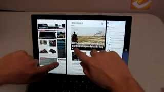 Surface Pro 3 - Multitasking Guide and Testing, 3 Window Multi-scroll!