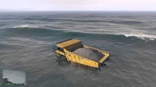 Grand Theft Auto V Dump Truck Ocean Glitch