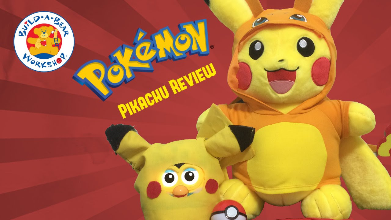 b7bac1464dd Build A Bear Pikachu Review - Pokemon Plushie Web Exclusive Set   Tsum Tsum  Blind Bags