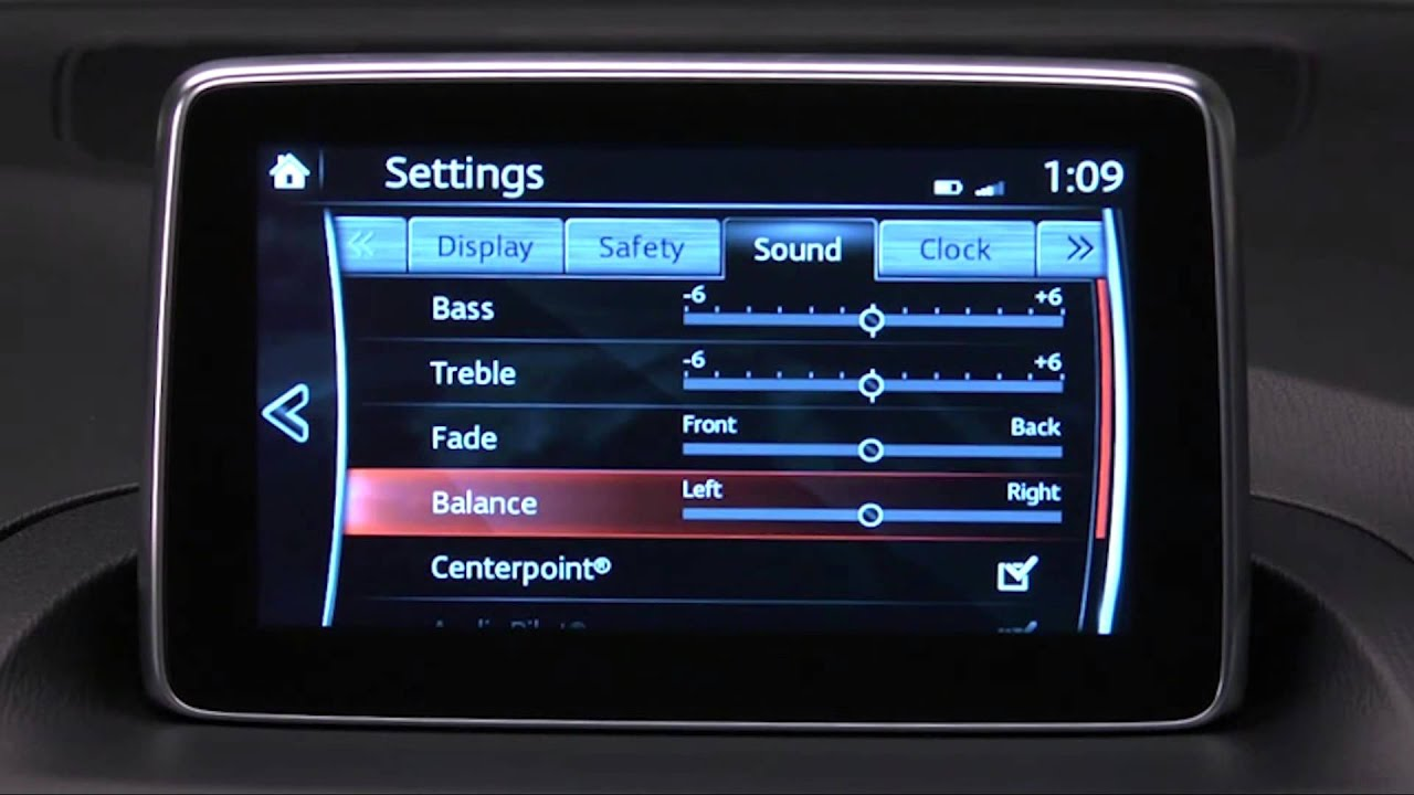 How to use Bose Audio Settings in the Mazda Connect ...