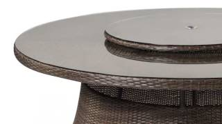 Round 9 Seat Dining Set with Lazy Susan and Parasol