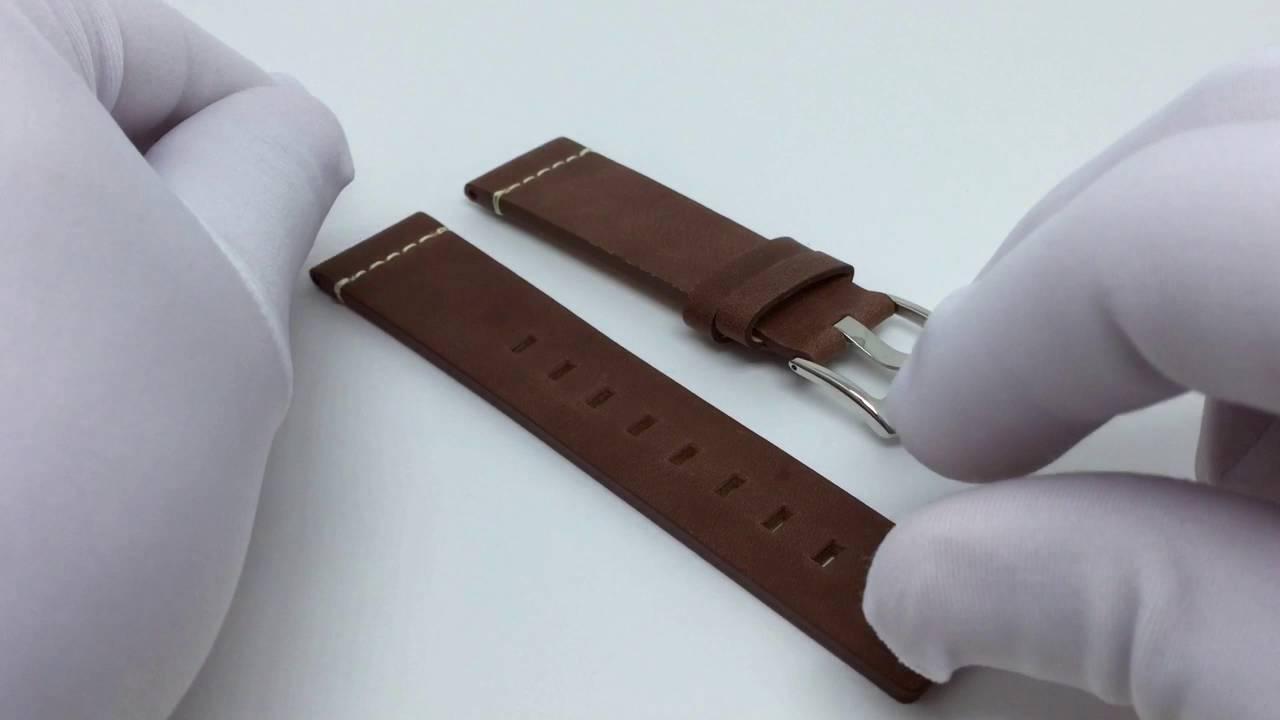 7317cbfd8bf Hospital dos Relógios - Pulseira de Couro Marrom Vintage Para ...