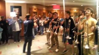 uconn band rallies fans post win over florida