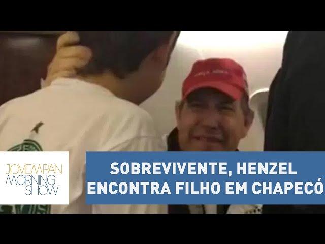 Sobrevivente de tragédia, Rafael Henzel encontra filho em Chapecó