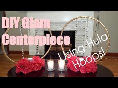 DIY Glam Hula Hoop Centerpiece | Shayla DIY