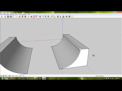 Create Halfpipe - Google Sketchup