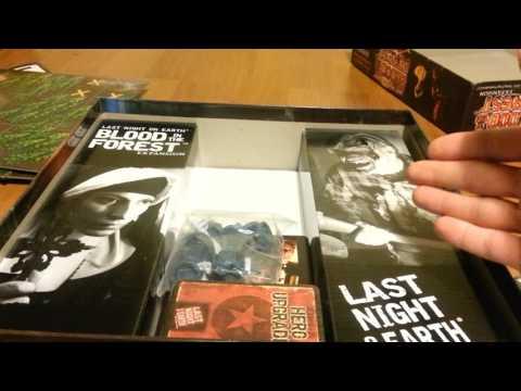 Распаковка настольной игры Last Night On Earth: Blood In The Forest