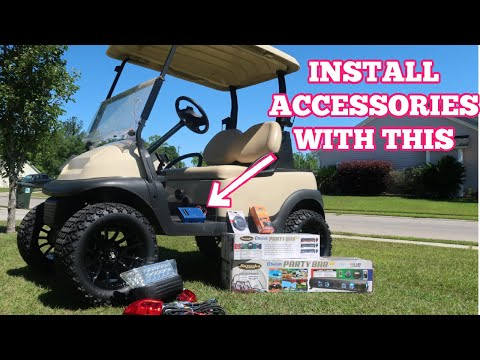 How To Install DC Converter on Golf Cart | 48v to 12V Power Converter | Accessory Power Supply