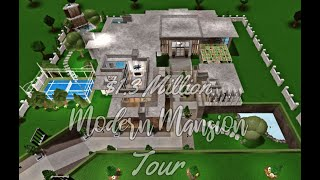 Bloxburg: Modern MANSION TOUR $1.3 MILLION | Roblox [TOUR]