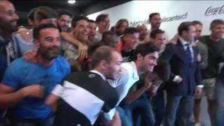 La celebración del Hércules por el sorteo de la Copa De Rey [14/10/2016]