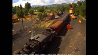 7/10/2018 Eight car train 215 arrives into Chama, NM