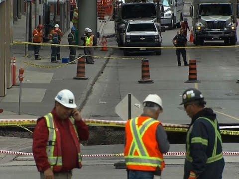 Giant Sinkhole Opens Up On Ottawa Streets