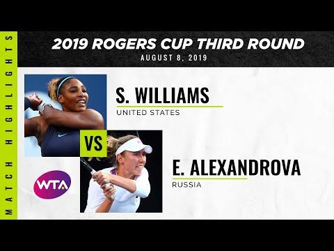 Serena Williams Vs. Ekaterina Alexandrova | 2019 Rogers Cup Third Round | WTA Highlights