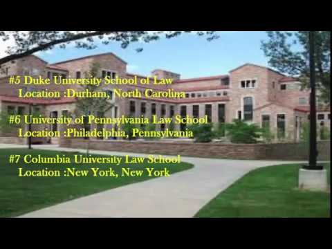 Top 10 Best Law Schools of 2016 in USA
