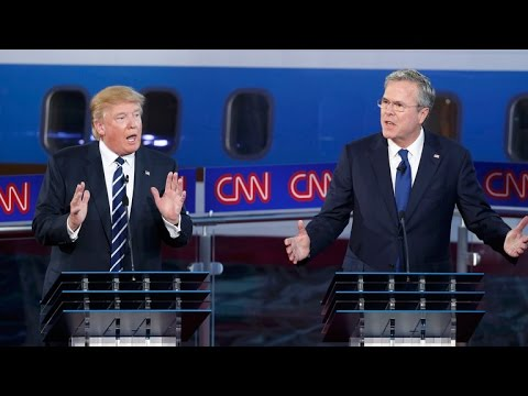 2015 Republican debate: Jeb Bush pushes against Donald Trump on political money