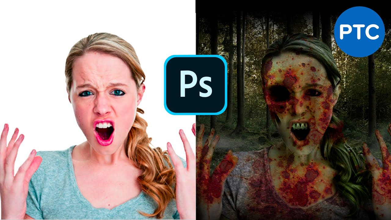 Zombie photoshop tutorial how to make a zombie in for Zombie build