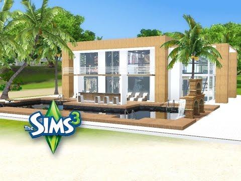 Sims 3 haus bauen let 39 s build modernes strandhaus for Modernes haus sims 3