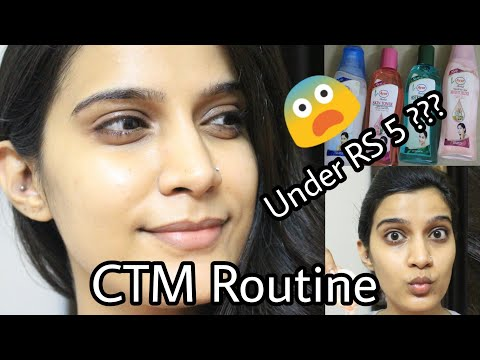 How To : CTM Routine under Rs. 5 ??? | Using Ayur Products | Astringent V/S Toner |
