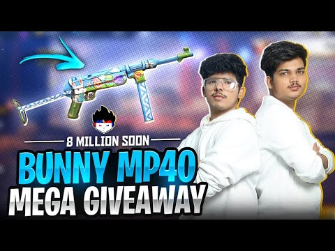 Free Fire Bunny Mp40 😱 Giveaway For Subscribers 100% Free - Garena Free Fire