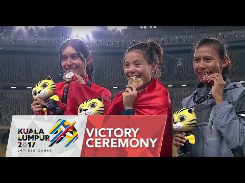 Athletics Women's 400m Hurdles Victory Ceremony | 29th SEA ...