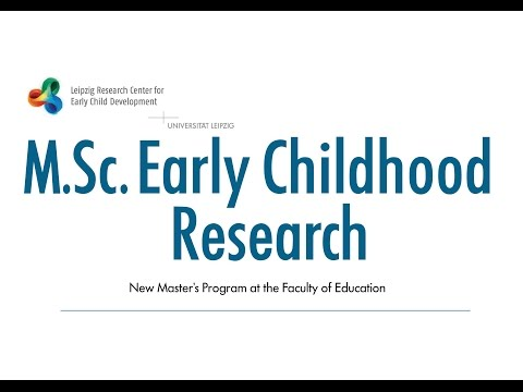"""M.Sc. """"Early Childhood Research"""" at Leipzig University"""