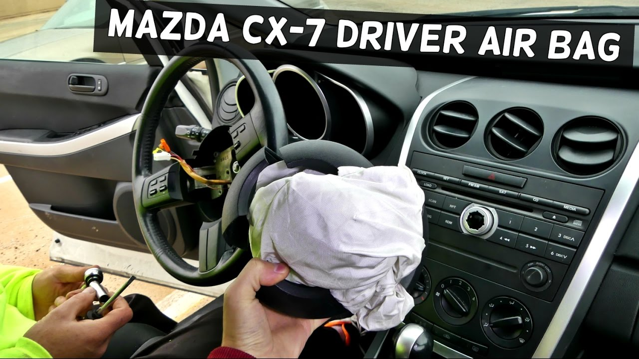 Mazda Cx 7 Driver Side Steering Airbag Air Bag Removal Replacement Cx7