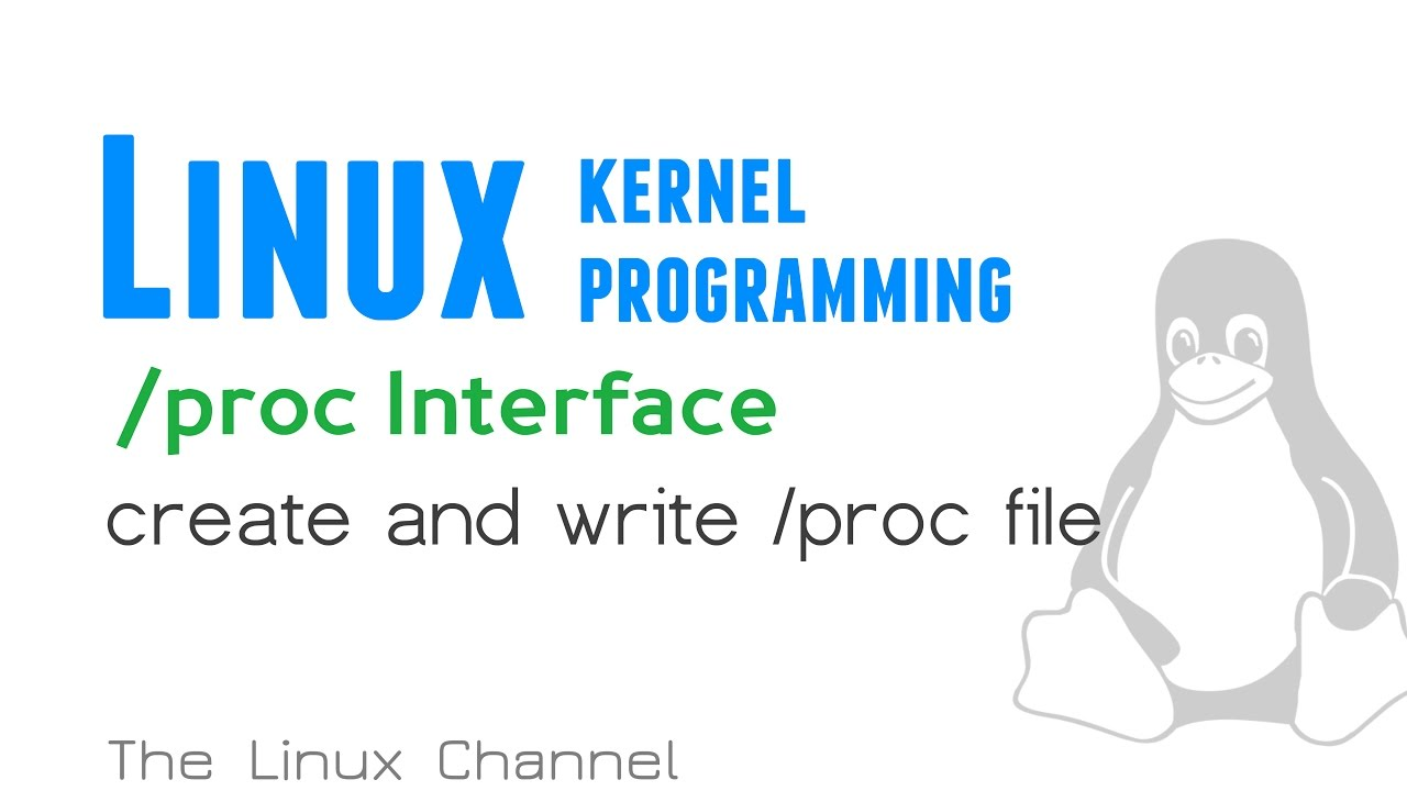 192 linux kernel proc interface create and write proc for Ep ptable queue proc