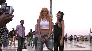 sexy and provocative rihanna had a blast in paris taking pictures with the eiffel tower