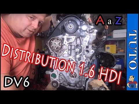 ⭐Remplacer La  Distribution 1.6 HDI ⭐ Les Points De Calage  👍  Peugeot Citroën  (A à Z)