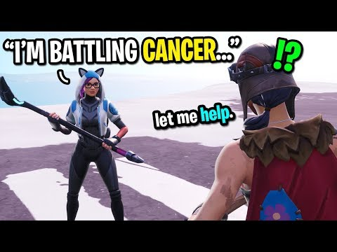 I Met A Kid Battling Cancer In Fortnite Random Duos... (this Is Not Fair)