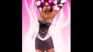 Speed Painting #4 yoruichi bleach - ZEPHIXE