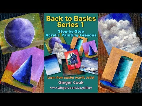 "Introduction to our ""Back to Basics -Downloadable Beginning Acrylic Painting  Tutorials – Series1"